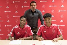 Ajax Amsterdam yesterday unveiled their two latest signings, Leo Thethani and Dean Solomons, from Ajax Cape Town on long-term deals. My Heritage, Dean, Amsterdam, Baseball Cards, Sports, Hs Sports, Sport