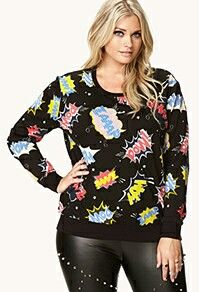 Forever 21. Love this sweater.  It would be so easy to make it an off the shoulder.