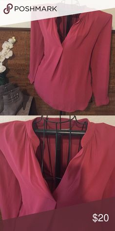 Mauve blouse by Loft Great mauve blouse by Loft soft material like new LOFT Tops Blouses