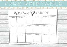 Free New Year Resolutions Printable | TheSecretOwl.blogspot.co.uk