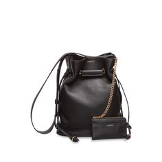 Le Huit L Bucket Bag with Eyelets in Black Grained Leather Lancel Low Shipping Cheap Sale In China Sale Wholesale Price Cheap Sale Best Wholesale Cheap Recommend abStZSnc