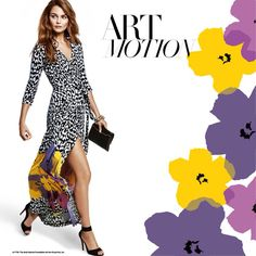 Diane von Furstenberg - classic cheetah print meets Andy Warhol's flowers in the limited edition Abigail dress.