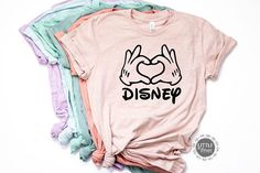 Disney shirts - Disneyshirts for women - Disney family shirts - Disney vacation- Disney world - disney outfit #disney #disneyworld #disneyland Check out this item in my Etsy shop https://www.etsy.com/listing/607487861/disney-shirts-mickey-love-hands-matching