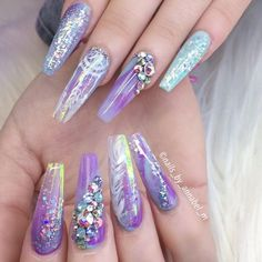 Halloween 🎃 Nails By . Glam Nails, Dope Nails, Bling Nails, Beauty Nails, Fun Nails, Fabulous Nails, Perfect Nails, Gorgeous Nails, Best Acrylic Nails