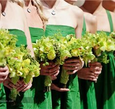 Green orchid bouquets