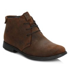 Camper Mens Medium Brown Mil Suede Boots