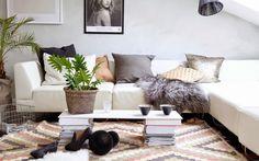 The cool home of the Norwegian blogger Henriette Amlie Kalbekken.