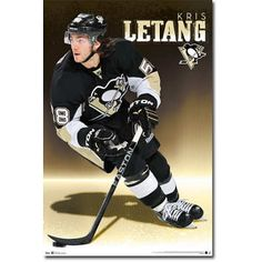 Kris Letang - Pittsburgh Penguins Hockey Poster