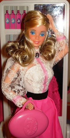 Angel Face Barbie 1982!! My all-time favorite barbie!! I LOVED her two-toned hair and makeup kit <3