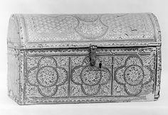 Coffer Date: 16th century Culture: Italian Medium: Leather, gilt and wood Dimensions: H. 8-3/8 in. (21.3 cm); L. 13-3/4 in. (34.9 cm); D. 6-7/8 in. (17.5 cm)