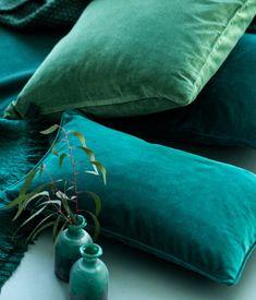 Dark Green Velvet Cusion Cover   H&M US