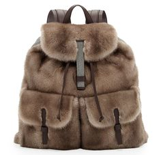 Brunello Cucinelli Mink Fur Backpack F2014.