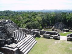 Different mayan ruins in belize