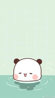 Cute Bunny Cartoon, Cute Kawaii Animals, Cute Cartoon Pictures, Cute Images, Cute Fall Wallpaper, Cute Panda Wallpaper, Bear Wallpaper, Chibi Cat, Cute Chibi