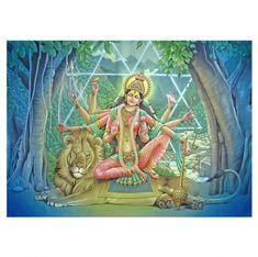 "Durga Painting - Hindu Goddess Art by Pieter Weltevrede - Sagar World - Blessed by Dr. Ramanand Sagar - - Goddesses - Durga literally means ""impassable"",""invincible, unassailable"". Durga is identified as Adi Parashakti, is a p Krishna Hindu, Shiva Shakti, Kali Goddess, Goddess Art, Maa Durga Photo, Durga Ji, Spiritual Images, Lord Vishnu Wallpapers, Ganesha Art"