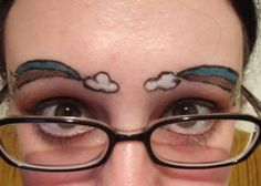 freaky facial tattoos - I'm all for body mods, but I draw the line at these freaky facial tattoos. If you've never seen a tattooed pair of eyebrows before, then prepare yo. Funny Eyebrows, Crazy Eyebrows, How To Draw Eyebrows, Worst Eyebrows, Eye Brows, Eyebrow Fails, Eyebrow Trends, Horrible Tattoos, Weird Tattoos