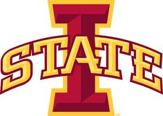 Iowa State Cyclones Primary Logo (2007) - Red I with STATE arched across in yellow