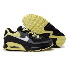 Famous Air Max 90 Men - Black / Light Gold - Dark Charcoal - White Running Shoes 1093 $66.3