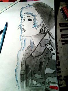 Draw • Girl ~ by Feli ♦