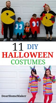 11 best Halloween DIY Costumes for this Halloween season. These costumes are super easy to make. Turn your regular wear into Halloween costumes with little bit of creativity. 11 inspiration to make amazing Halloween costumes. From Family to group to single costumes ideas. #halloween #Halloweencostumes #Halloweenparty #partycostumes