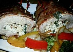 Bacon Wrapped Stuffed Pork Loin.  Check out WunderRub on Facebook