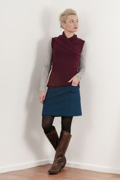 get your groove on woollen skirt  Chalky Digits Clothing