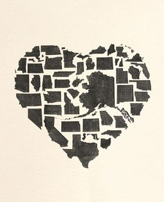 Heart made of all 50 states #heart #states #roadtrip