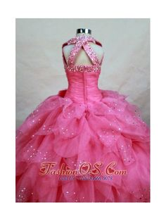 little girls pageant dresses | ... Top Hot Pink Organza Beading Little Girl Pageant Dresses- $153.57