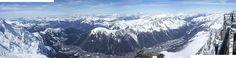 Panorama do Vale do Chamonix. # Chamonix, França.
