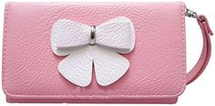 """myLife Executive Design {Leather Wristlet - Bifold} Magnetic Wallet for Nokia Lumia 520 {Carnation Pink + Popcorn White """"Bow Clutch"""" Textured Faux Vegan Leather - Money, ID and Credit Card Holder Folio Design} myLife Brand Products http://www.amazon.com/dp/B00SNPIVAU/ref=cm_sw_r_pi_dp_isH-ub0KDR7VZ"""