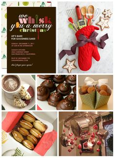 holiday baking party