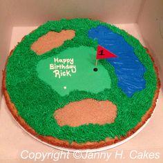Golf cookie cake www.facebook.com/jannyh.cakes