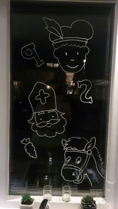 Windows Decor You Will Definitely Want To Try Winter Christmas, Christmas Crafts, Christmas Decorations, Stencils, Daycare Crafts, Chalk Markers, Window Art, Chalkboard Art, Diy And Crafts