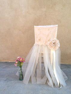 Wedding Chair Decor Wedding Chair Cover Bridal by LuckyYouLuckyMe, $49.00