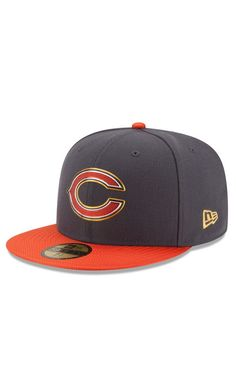 NFL Men's Chicago Bears New Era Graphite Gold Collection On Field ...