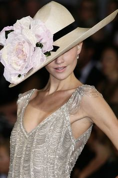 Ralph Lauren Spring 2008 - Details  If and when I ever get back to England and have an occasion to wear a hat-THIS would be the one.
