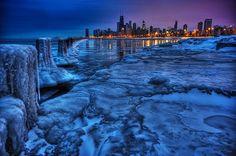 Chicago. Incredible shot. Looks like north ave beach looking south toward oak street beach