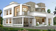 House Plans 6 Bedrooms - √ 16 House Plans 6 Bedrooms , 6 Bedroom Luxury House Design Kerala Home Design and Modern Exterior House Designs, Modern House Plans, Modern House Design, Beautiful Home Designs, Beautiful Houses Interior, Beautiful Homes, Style At Home, Kerala House Design, Kerala Houses