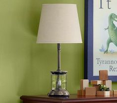 Simple Shade & Depot Table Base - Functions as a nightlight or full lamp.