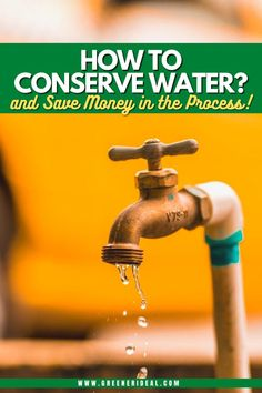Conserving water at home will not only keep your water bill lower; it is also better for the environment. Here are some ways to conserve water. How to Conserve Water | How To Save Water | Save Water At Home | Save Water At The Kitchen | Save Water At The Office | Water Saving Tips For Everyone | 25 Ways You Can Save Water | Ways You Can Save Water | Water For Everyone | Green Living Tips | Healthy Living Tips For Everyone| #water #savewater #conservewater #tips
