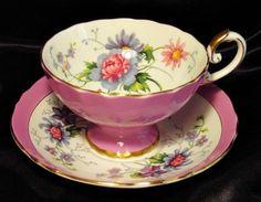 Gorgeous Crown Staffordshire Cabinet Tea Cup & Saucer ~ ... | Lets ...