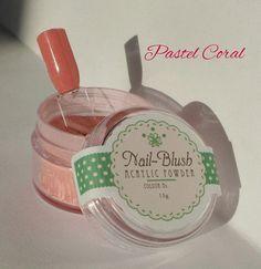 Acrylic nail powder Pastel Coral 15g by Nail-Blush by NailBlush on Etsy
