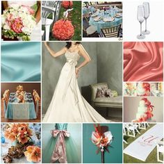 Coral and blue wedding - late summer wedding color scheme?