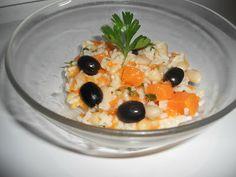 Kiosko di frutti di bosco: Insalata di riso zucca fagioli e olive
