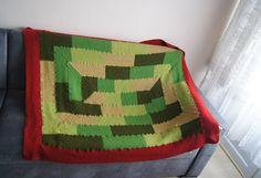 "MADE TO ORDER // 55"" x 45"" Geometric chevron blanket, Granny Square blanket, afghan,weddin... $149.99"