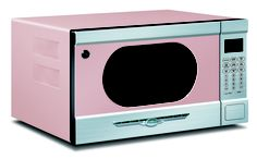 OMG!! I looooovvveee this!  Who doesn't love a retro-inspired PINK microwave?