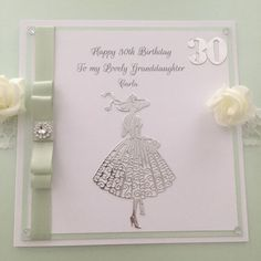 This item is from my shop: Personalised Birthday Card for Granddaughter, Daughter, Niece, Sister, Aunt or Friend. 60th Birthday Cards For Ladies, 60th Birthday Quotes, Luxury Birthday Cards, Happy Birthday Niece, Daughter Birthday Cards, Birthday Ideas For Her, Girl First Birthday, Handmade Birthday Cards, Handmade Cards