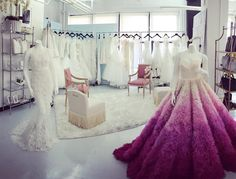 Love our new little bridal suite in our showroom in NYC! #christiansirianobridal