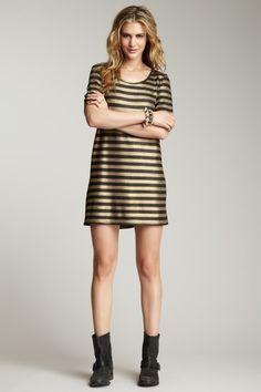 gold + black stripes