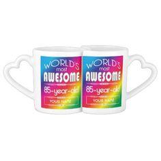 Shop Birthday Worlds Best Fabulous Rainbow Coffee Mug Set created by BCMonogramMe. Coffee Mug Sets, Mugs Set, Rainbow Coffee, 85th Birthday, Birthday Coffee, Couple Mugs, Sweetest Day, Rainbow Birthday, Custom Mugs